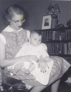 Cindy Spencer with Bill Spencer, 1958