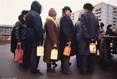 Image result for soviets waiting in line