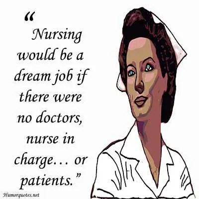 Funny nursing quotes short