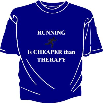 Running funny quotes of t-shirts