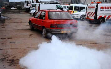 The smoke screen in action