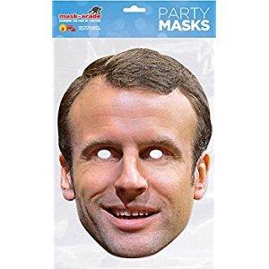 Masque en Carton Emmanuel Macron - Carnaval Politique Anniversaire Humour