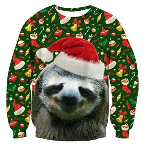Pull de Noël Pullover, Funny Sweatshirts pour Hommes Femmes