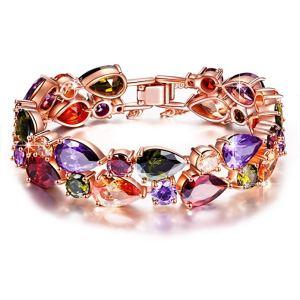 Bracelet Femme Bohème Chic composé de Cristaux Multi-colorés