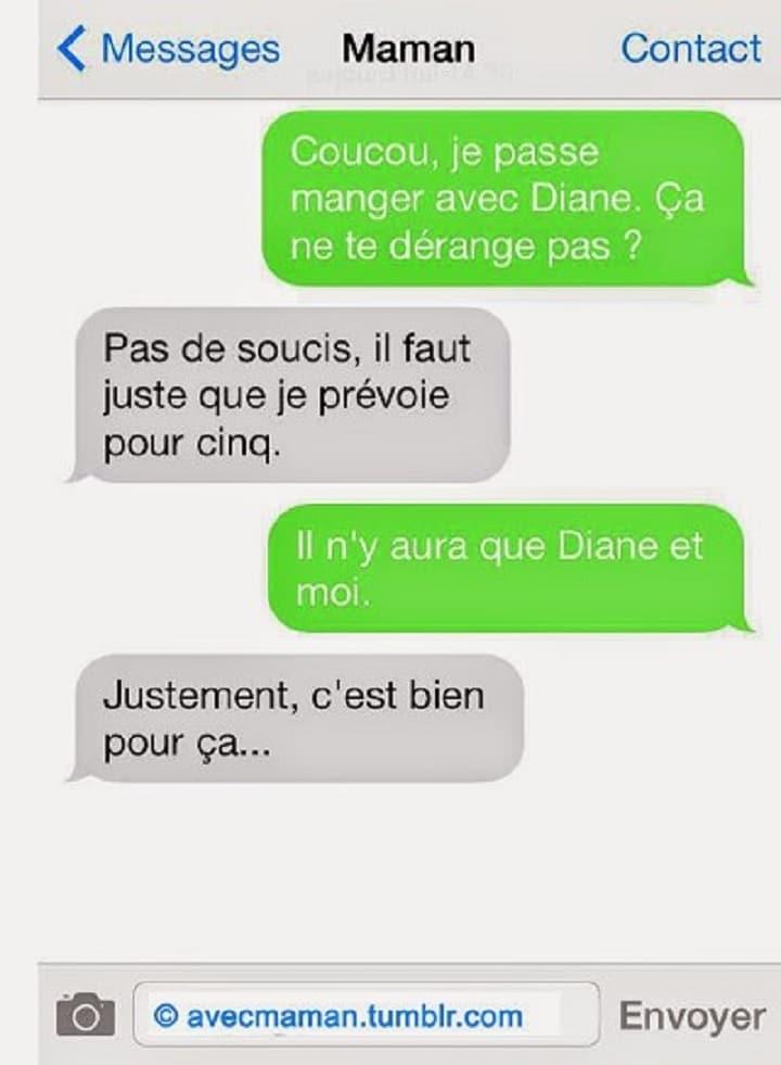 Coucou, je passe manger avec Diane