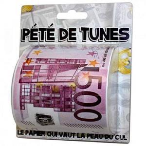 Cadeau humour Papier toilette pété de tunes