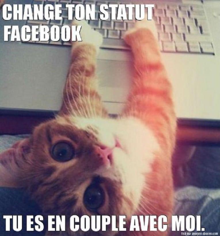 Je change ton statut Facebook