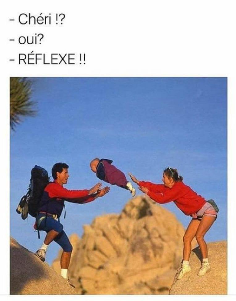 Chéri !? oui ? Réflexe !!