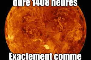 Un jour sur mercure dure 1408 heures