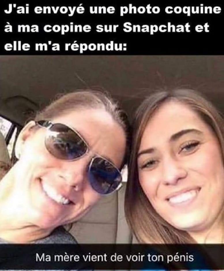 J'ai envoyé une photo coquine à ma copine sur Snapchat