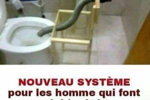 Nouveau système pour les homme qui font pipi à côté !