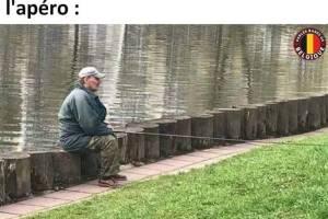 Quand tu vas à la pêche juste après l'apéro