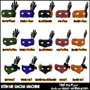kitsch me - halloween gacha masks!