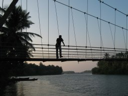 Hanging bridge and the backwaters
