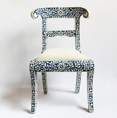 bone inlay chair