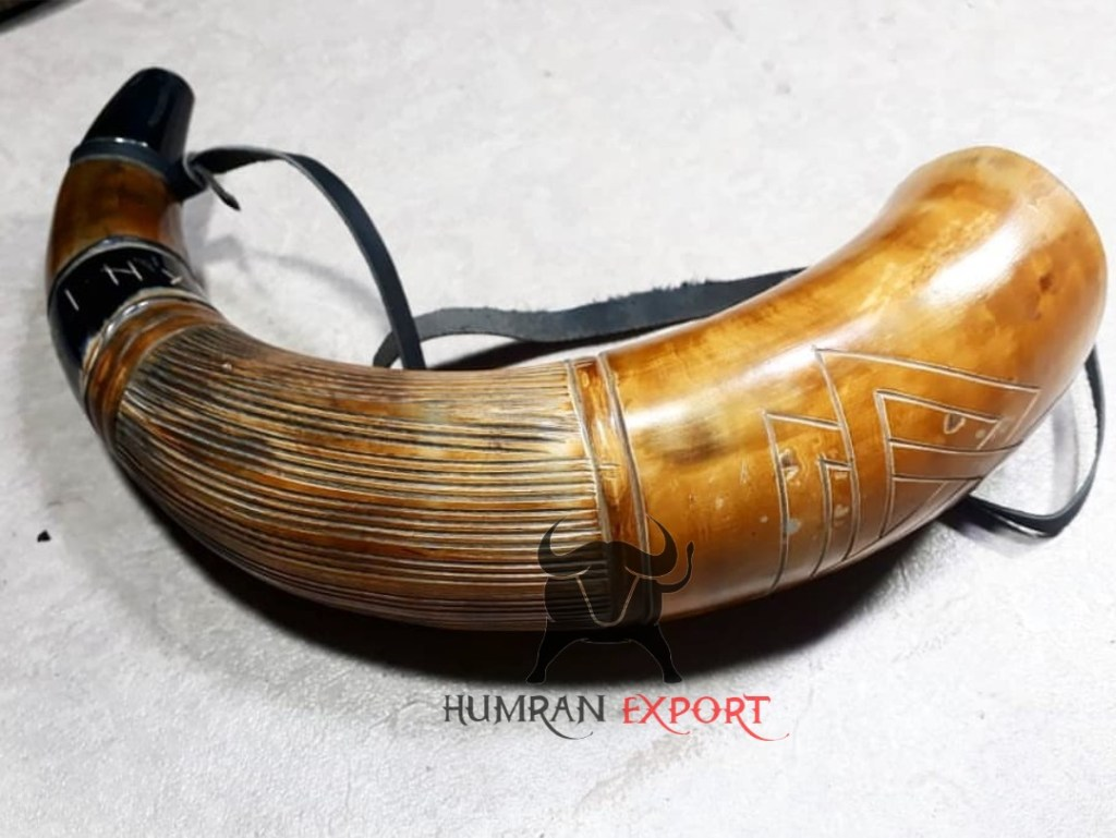 carved blowing horn