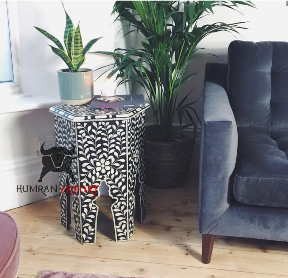 bone inlay stool