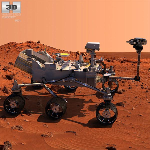 Curiosity Mars Rover 3D model Humster3D