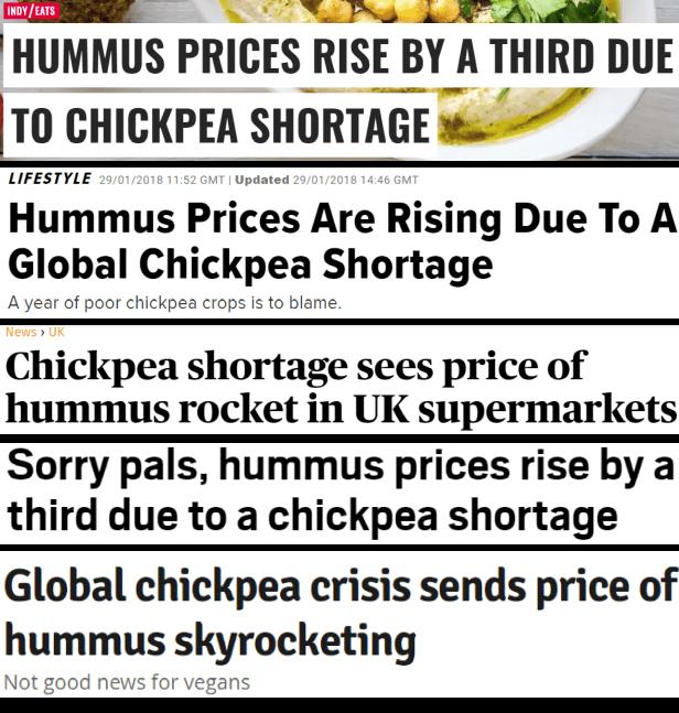 hummus crisis headlines