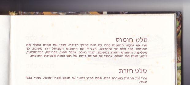 """סלט חומוס, מתכון מ""""ספר הבישול"""""""