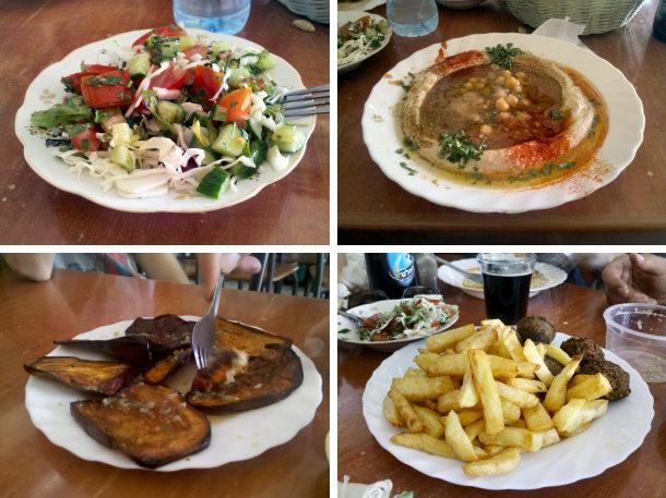 האוכל של מרכז החומוס והפול