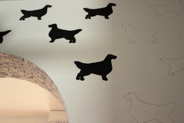 Bleistiftzeichnungen für die DIY Hunde Tapete