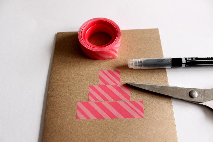 diy geburtstagskarte basteln washi tape hundebloghaus. Black Bedroom Furniture Sets. Home Design Ideas