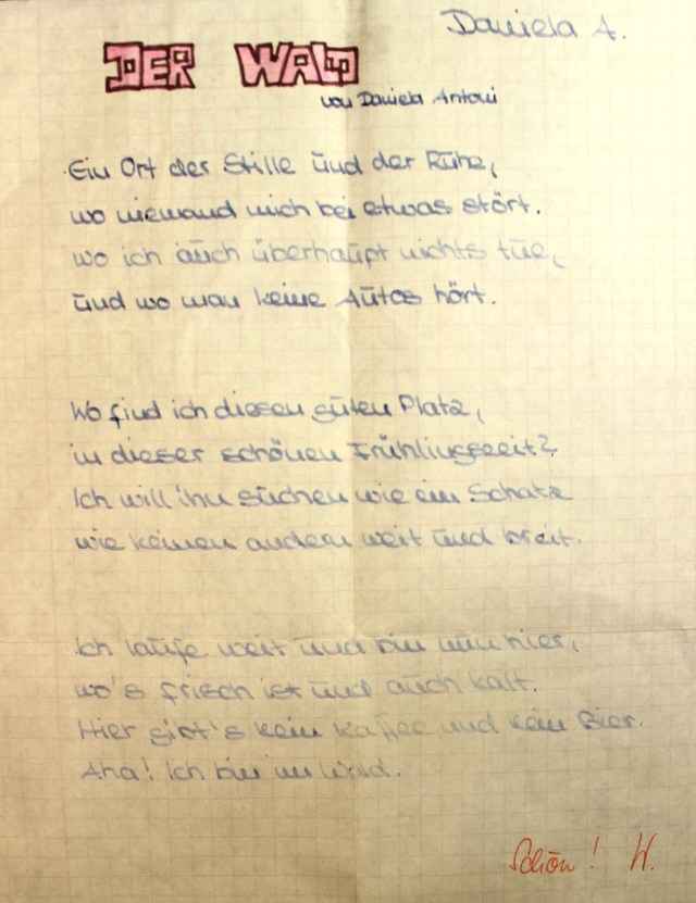 Gedicht über den Wald
