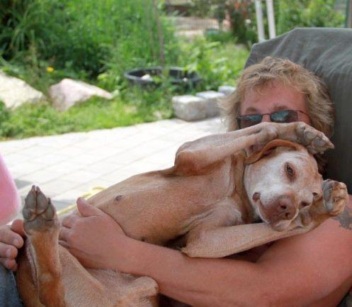 Sam und Werner kuscheln
