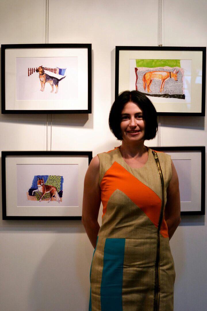 Kunstaktion für das Kazaner Tierheim / Kunstwerk vom eigenen Tier