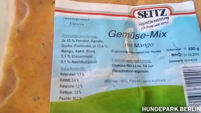 Germüsemix mit Mango Barf Test