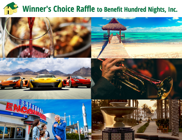Winners Choice Raffle to Benefit Hundred Nights Inc