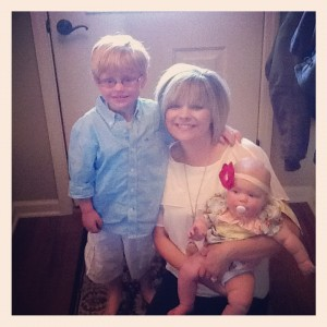 Lacey of The Ag Wife Diaries & her two precious kids