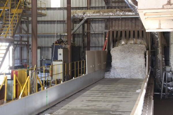 cotton module enters a gin