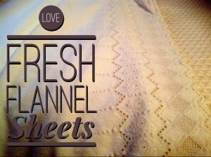 fresh flannel sheets