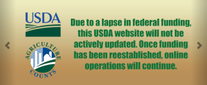 USDA websites not updated