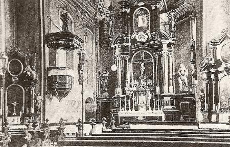 Inneres der alten Kirche vor 1964.