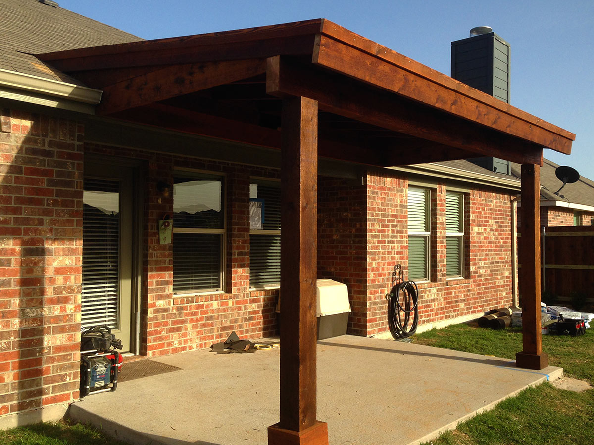 Back Patio Cover In Prosper Texas - Hundt Patio Covers and ... on Covered Back Deck Designs id=98922