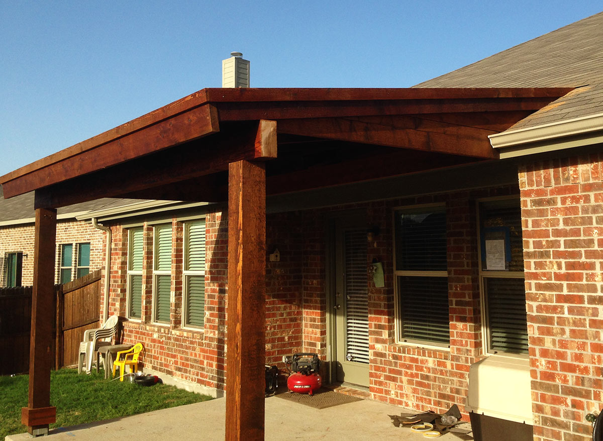 Back Patio Cover In Prosper Texas - Hundt Patio Covers and ... on Covered Back Deck Designs id=85082