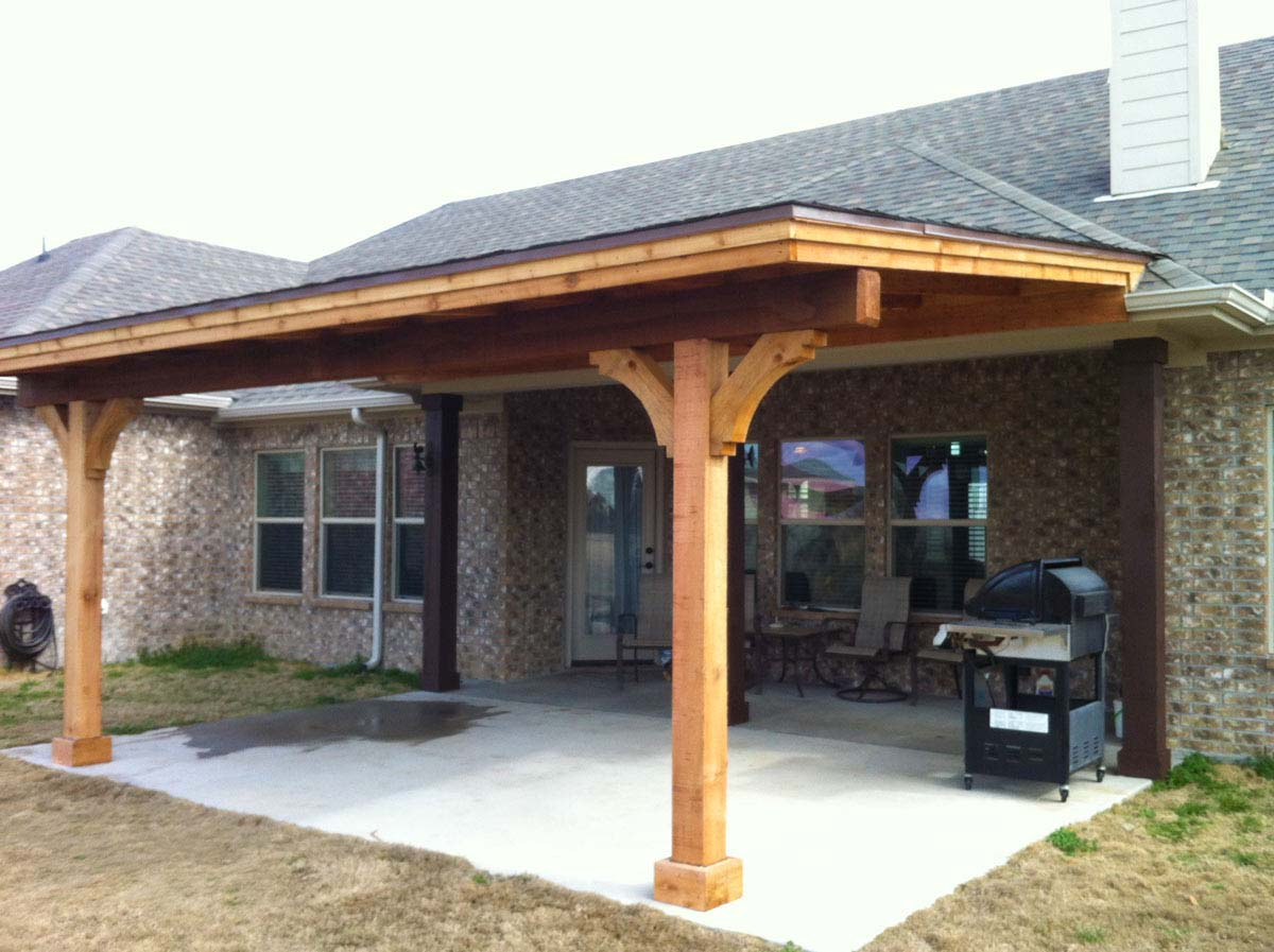 Simple Royce City Patio Cover With Shingles - Hundt Patio ... on Covered Back Deck Designs id=38419