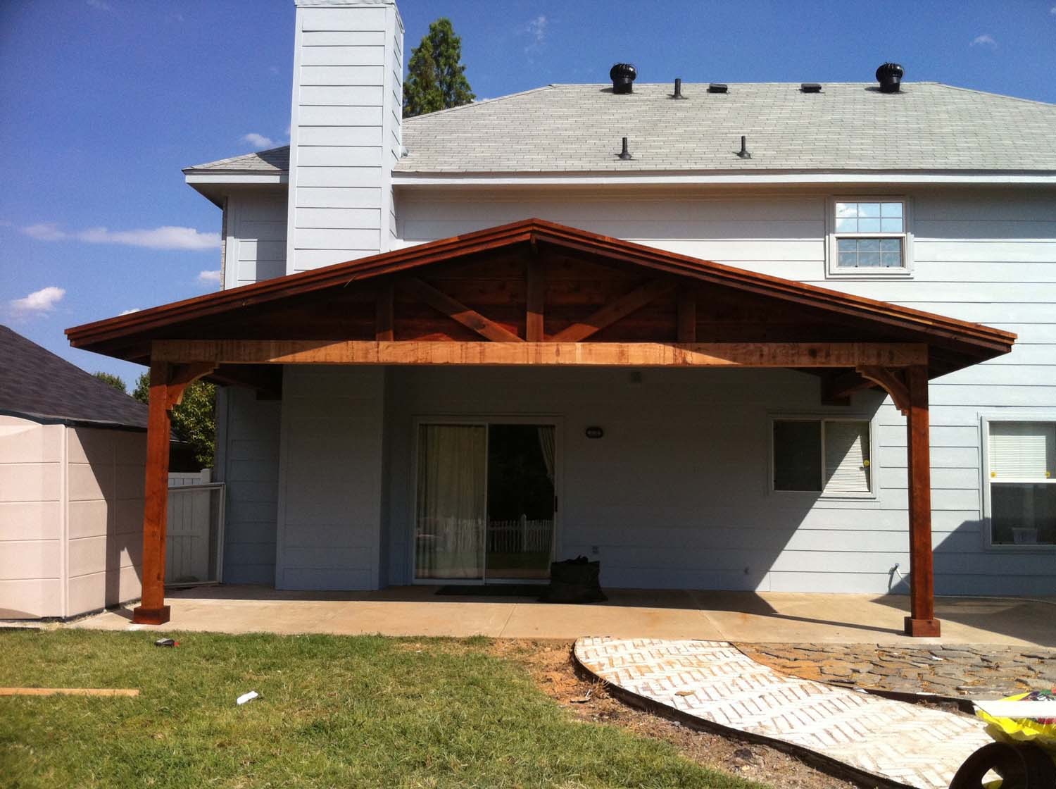 Wide Backyard Patio Cover Shades Large Backyard - Sherman ... on Backyard Patio Cover  id=74136