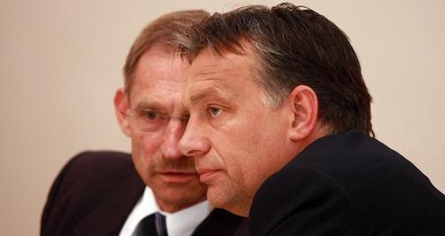 Sándor Pintér and Viktor Orbán