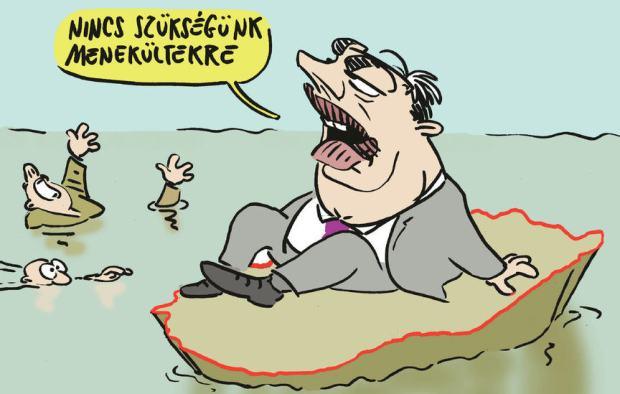 """We need no refugees"" Gábor Pápai / Népszava"