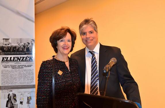 Maximilian Teleki with April H. Foley, former U.S. ambassador to Hungary ad a great supporter of Viktor Orbán