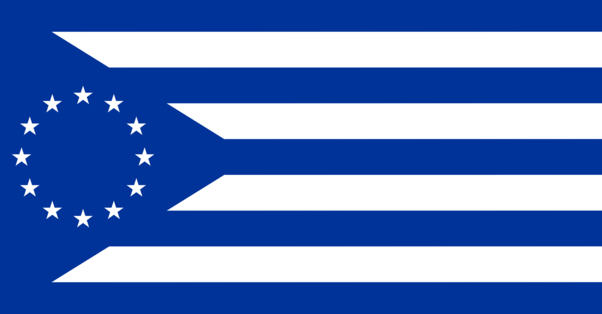 Some people on the internet already design the flag. Here is one of the many