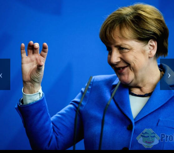 Aat today's press conference Angela Merkel looks very satisfied with herself