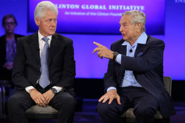 President Bill Clinton and George Soros