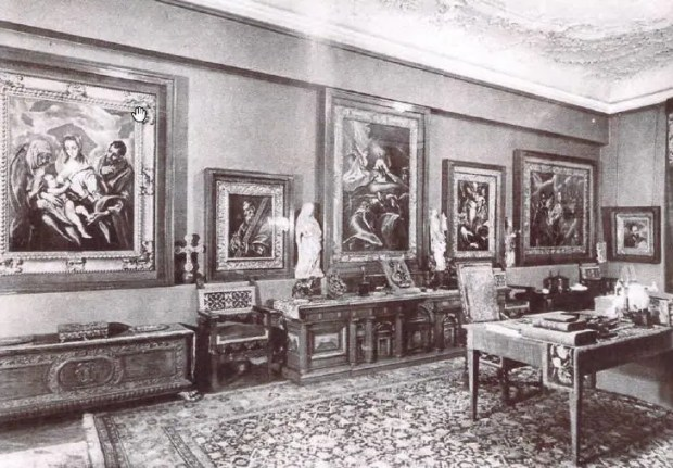 Baron Mór Lipót Herzog's study in the 1910s