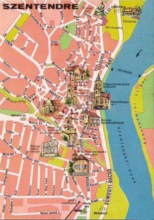 Szentendre - Map