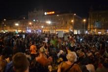 Refugee demonstration.